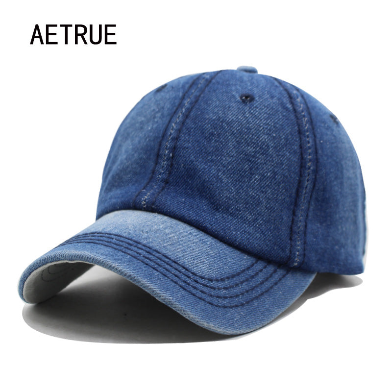 Men and Women Baseball Cap Made With Denim Jeans Material