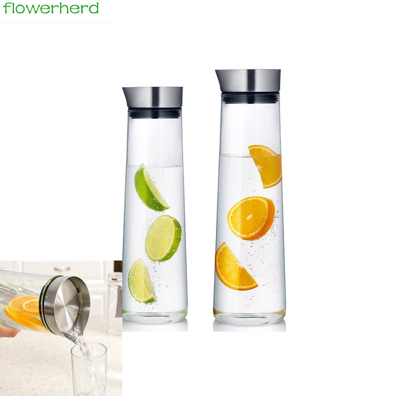 Transparent Office Style Glass Water Bottle
