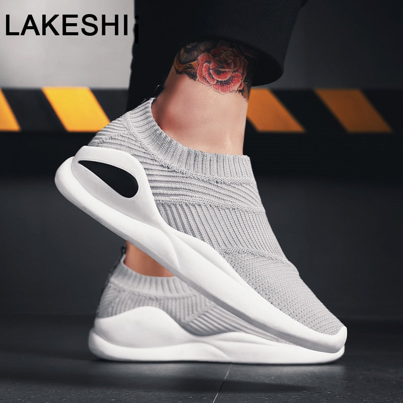 LAKESHI 2019 New Men Sneakers Tennis