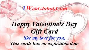 VALENTINE'S DAY GIFT CARD