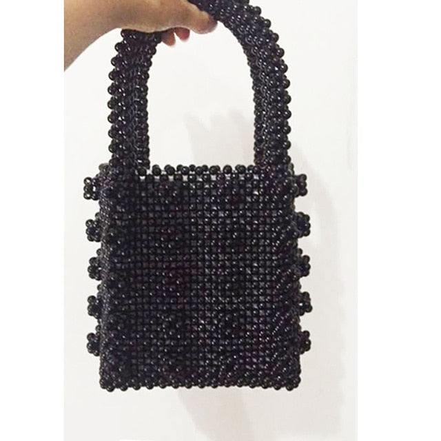 Fashion Pearl bag  ladies handbag beaded Bag Female Purse Handmade Evening Bag  Luxury Handbags bags for women 2018