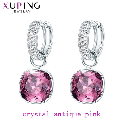 Xuping Fashion Earrings Drop Earring High Quality Crystals from Swarovski Color Plated Charm for Women Mother's Day Gift M65-203