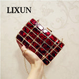 LIXUN Luxury Style Gold Acrylic Women's Clutch Evening Bags Handbags Purses Women Wedding Party Bags Ladies Clutch Female Bolsa