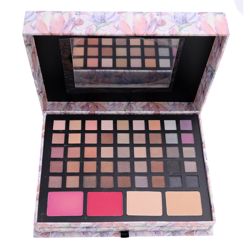 Miss Rose Professional Makeup Palette In Pink Box With Eyeshadow Concealer Contouring Powder Lip Gloss For Makeup Artist