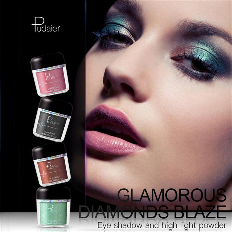 26 Colors Rhinestone Pearl Powder Metal Shimmer Eye Shadow Powder Glitter Primer Luminous Eye Shadow Makeup Cosmetics Gift