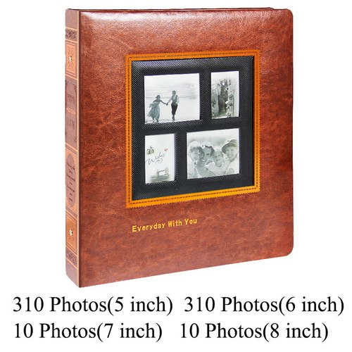 Photo Album Scrapbook PU Leather Picture Album Cover Interleaf Type Large Size Wedding Photograph Baby Albums Anniversary Gift