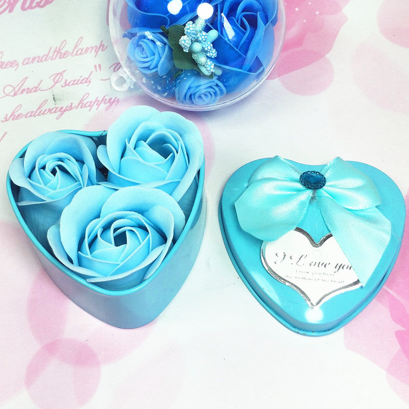 12box/set Heart Scented Bath Body Petal Rose Flower Soap Wedding Party Decoration Valentine's Day Gift Party Favors