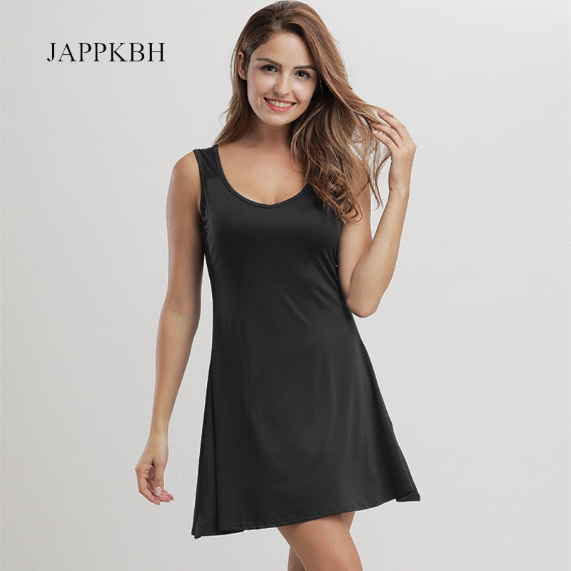 JAPPKBH Sexy Autumn Summer Dress Women Casual Loose Ladies Dresses Elegant Vintage Beach Party Dress Women Vestidos Plus Size