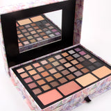 professional makeup palette in pink box with Eyeshadow concealer contouring powder lip gloss for Makeup artist