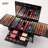 Miss Rose Long Lasting 180 Colors Multicolor Shimmer Glitter Matte Soft Eyeshadow Palette Set Women Makeup kit Waterproof