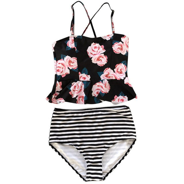 Women Flower Print Bikini Push-Up Pad Swimwear Bathing Swimsuit Two Pieces Beachwear Set Bikini Brazilian Women Swimsuit