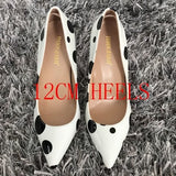 2019 Brand Women Pumps Sexy Shoes Woman Pointed Toe High Heels Shoes Luxury Designer Patry Wedding Bridal Shoes 12CM High Heels