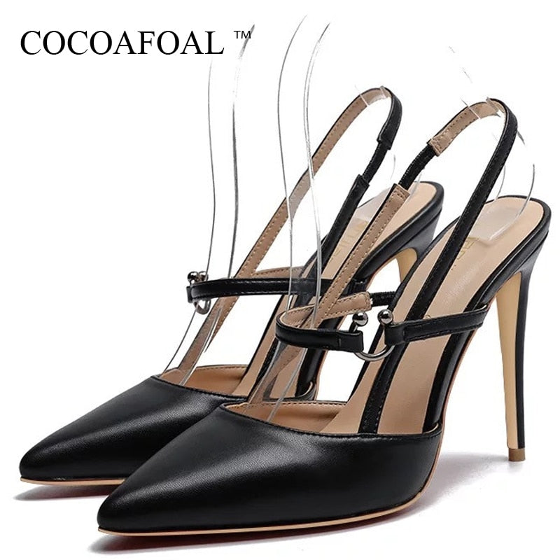 COCOAFOAL Women High Heel Sandals Sexy Wedding Sandals Party Plus Size 33 43 Peep Toe High Heels Bridal Shoes Black Red White