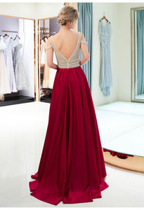 A-Line Bridesmaid Dresses Brilliant Rhinestones Embellished - 3