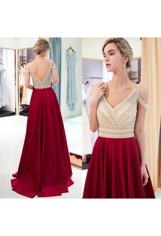 A-Line Bridesmaid Dresses Brilliant Rhinestones Embellished - 7