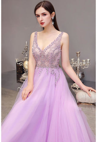 Image of A-Line Pageant Dresses Brilliant Rhinestones Beading Embellished - 4