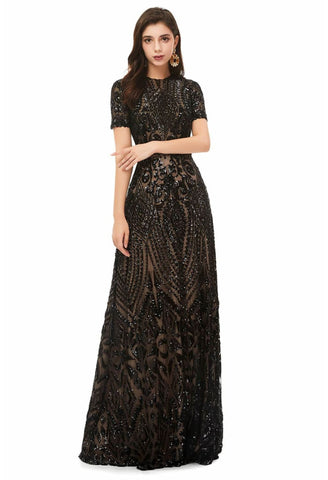 Image of A-Line Pageant Dresses Chic Embroidery Sequins Embellished - 5