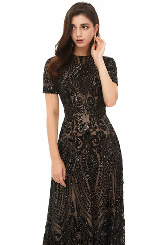 Image of A-Line Pageant Dresses Chic Embroidery Sequins Embellished - 4
