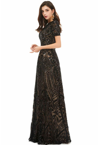 Image of A-Line Pageant Dresses Chic Embroidery Sequins Embellished - 2
