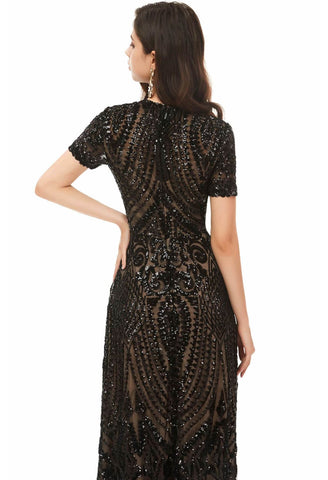 Image of A-Line Pageant Dresses Chic Embroidery Sequins Embellished - 3