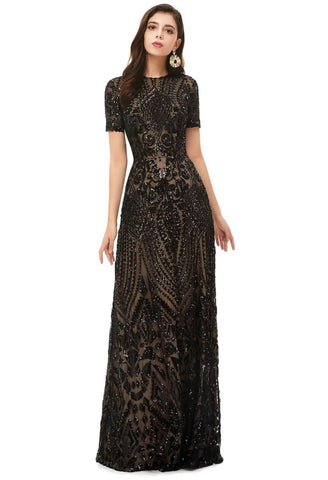 Image of A-Line Pageant Dresses Chic Embroidery Sequins Embellished - 1