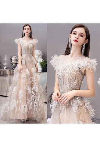 Image of A-Line Pageant Dresses Luxury Tassels Rhinestones Beading Embellished - 8