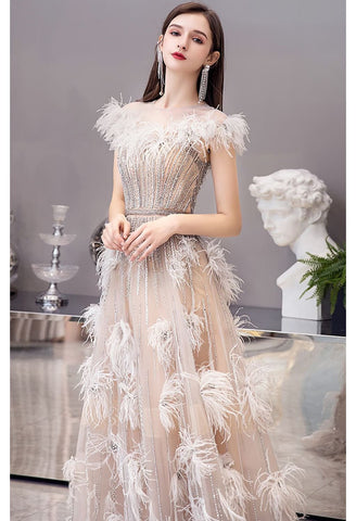 Image of A-Line Pageant Dresses Luxury Tassels Rhinestones Beading Embellished - 4