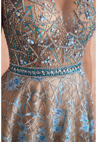 Image of A-Line Party Dresses Chic Embroidery - 3