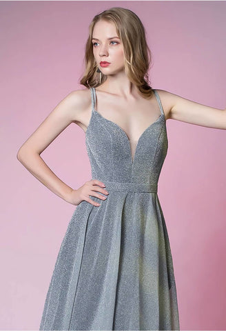 Image of A-Line Party Dresses Glamorous Spaghetti Straps - 5