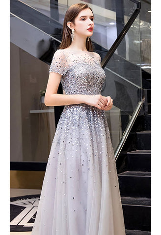 Image of A-Line Prom Dresses Brilliant Sequins - 3