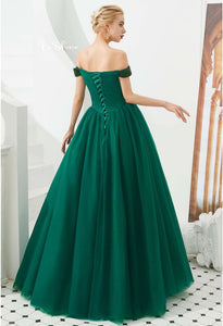 A-Line Prom Dresses Exquisite Beaded - 5