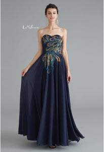 A-Line Prom Dresses Tube Top Embroidery - 5
