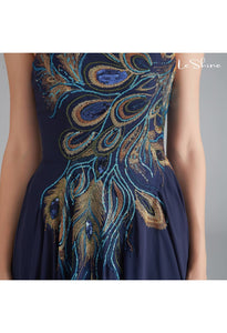A-Line Prom Dresses Tube Top Embroidery - 4