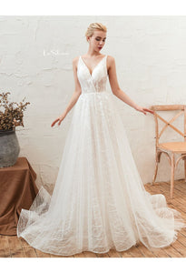 Beach Bride Dresses Open Back Tailing - 3