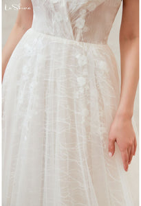 Beach Bride Dresses Open Back Tailing - 5