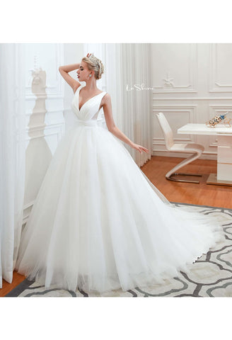 Image of Beach Bride Dresses Pure Simplicity Tailing - 1
