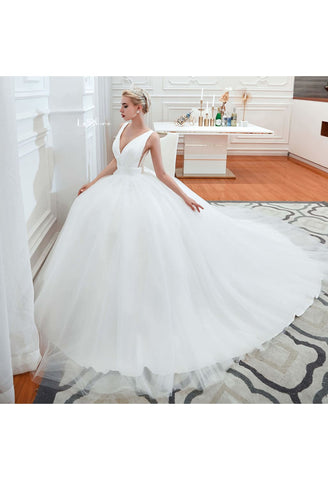 Image of Beach Bride Dresses Pure Simplicity Tailing - 3