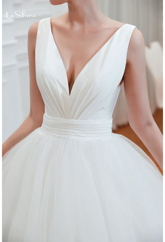 Image of Beach Bride Dresses Pure Simplicity Tailing - 5