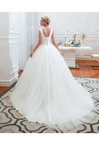 Image of Beach Bride Dresses Pure Simplicity Tailing - 2