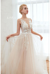 Beach Bride Dresses Stereoscopic Fairy Lace Tailing - 5