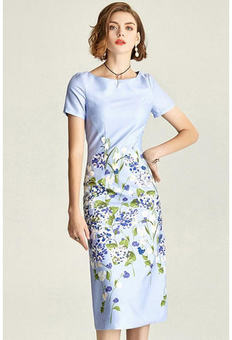 Image of Floral Pencil Dresses Elegant - 2