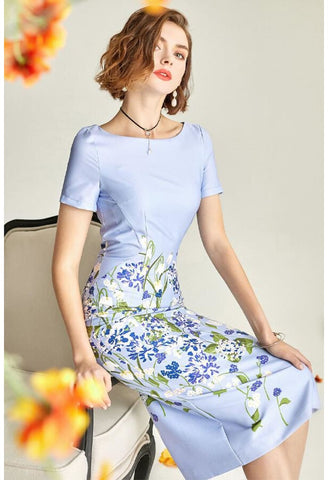 Image of Floral Pencil Dresses Elegant - 4