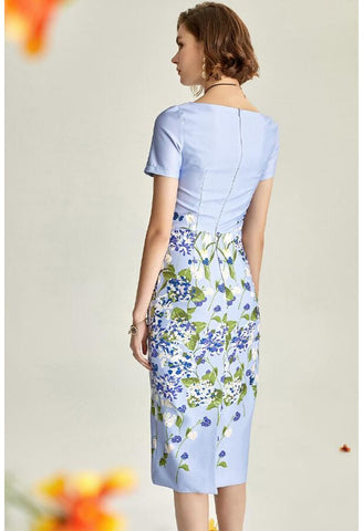 Image of Floral Pencil Dresses Elegant - 5