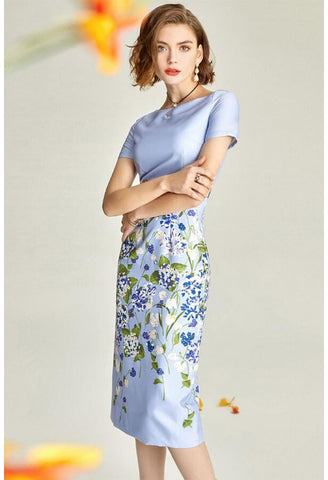 Image of Floral Pencil Dresses Elegant - 1