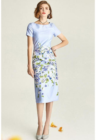Image of Floral Pencil Dresses Elegant - 3