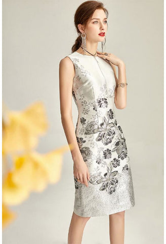 Image of Jacquard Pencil Dresses Sleeveless - 1
