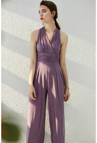 Jumpsuit Dresses Sleeveless V-Neck - 2