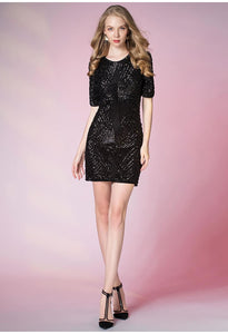 Knee Length Cocktail Dresses Glamorous Sequins - 4
