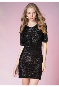 Knee Length Cocktail Dresses Glamorous Sequins - 1