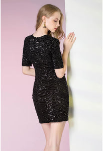 Knee Length Cocktail Dresses Glamorous Sequins - 2
